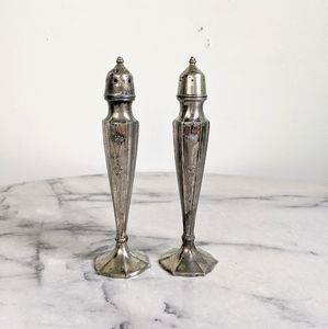 vtg 70's silver plated victorian style S&P shakers